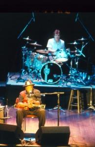 Bo Diddley & drummer