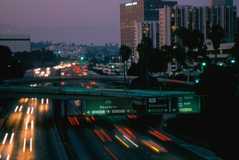 Los Angeles, California from the 6th Street overpass